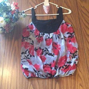 Wrapper women's xs floral Blouse wide strap